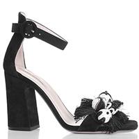 Черные босоножки Fabio Rusconi с крупным декором на носке, фото
