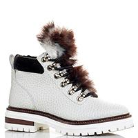 Белые ботинки Stokton с меховым язычком, фото