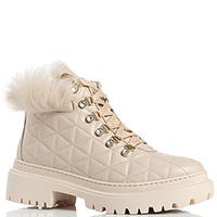 Бежевые ботинки Stokton из стеганой кожи, фото