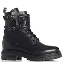 Черные ботинки Stokton на шнуровке и молнии, фото