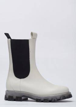 Белые ботинки Stokton из натуральной кожи, фото
