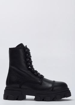 Черные ботинки Stokton из натуральной кожи, фото