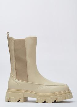 Бежевые ботинки Stokton с натуральным мехом внутри, фото