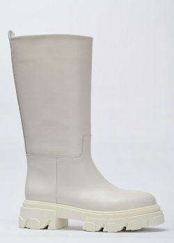 Белые сапоги Stokton из натуральной кожи, фото