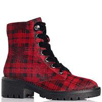 Ботинки Apepazza в красно-черную клетку, фото