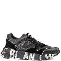 Черные кроссовки Voile Blanche с надписью на подошве, фото