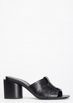 Черные мюли Halmanera на устойчивом каблуке, фото