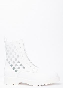 Белые ботинки Stokton с крупной перфорацией, фото
