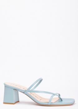 Голубые мюли Fabio Rusconi с квадратным носком, фото