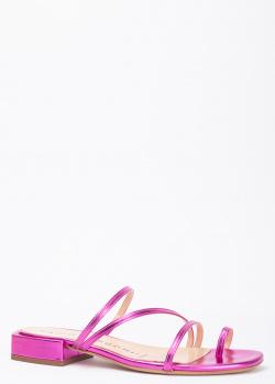 Шлепанцы на низком каблуке Fabio Rusconi с тонкими ремешками, фото
