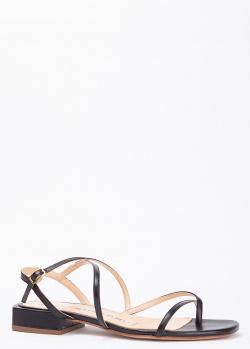 Босоножки на низком каблуке Fabio Rusconi черного цвета, фото