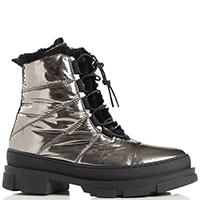 Зеркальные ботинки Stokton на толстой подошве, фото