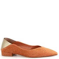 Коричневые туфли The Seller из комбинации кожи и замши, фото
