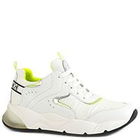 Белые кроссовки Voile Blanche на шнуровке, фото