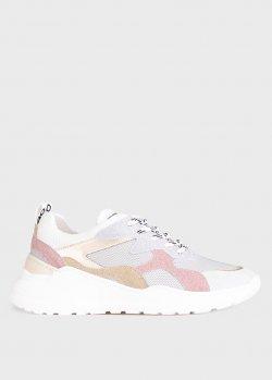 Серебристые кроссовки Meline с цветными вставками, фото