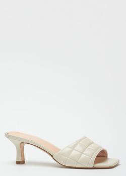 Белые мюли Nila&Nila из стеганой кожи, фото