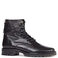 Женские ботинки Halmanera из черной кожи, фото