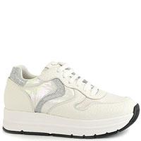 Белые кроссовки Voile Blanche с серебристыми вставками, фото