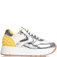 Белые кроссовки Voile Blanche с желтыми вставками, фото