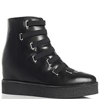 Черные ботинки MA&LO на скрытой танкетке, фото