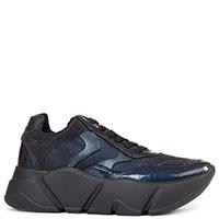 Лаковые кроссовки Voile Blanche Monster синего цвета, фото