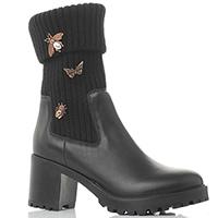 Черные ботинки Stokton металлическим декором, фото