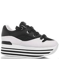 Черные кроссовки Apepazza Sport со шнурками-лентами, фото