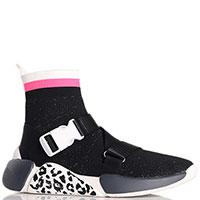 Высокие кроссовки Colors Of California черного цвета с вставками, фото