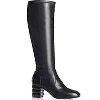 Черные сапоги Apepazza с фигурным каблуком, фото