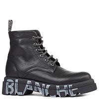 Черные ботинки Voile Blanche Tweed на массивной подошве, фото