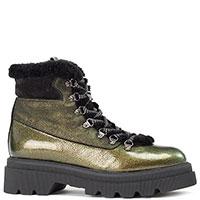 Зеленые ботинки Voile Blanche с лаковыми вставками, фото