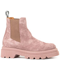 Ботинки Voile Blanche из замши розового цвета, фото