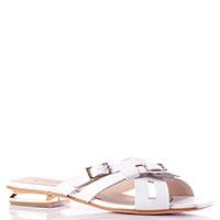 Белые шлепанцы Nila&Nila с квадратным носком, фото