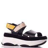 Черные сандалии Nila&Nila на толстой подошве, фото