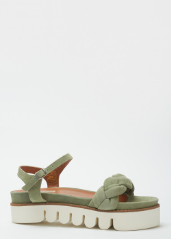 Замшевые сандалии Fabio Rusconi с плетеным верхом, фото