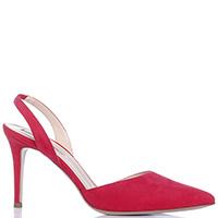 Слингбеки Fabio Rusconi красного цвета с острым носком, фото