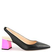 Туфли-слингбеки Fabio Rusconi на розовом каблуке, фото