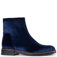 Синие велюровые ботинки Alessandro di Maria, фото
