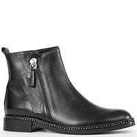 Черные ботинки Alessandro di Maria с боковой молнией, фото