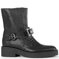 Ботинки Alessandro di Maria из гладкой черной кожи, фото