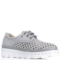 Замшевые туфли Lab Milano серого цвета, фото