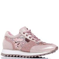 Розовые кроссовки Lab Milano со стразами и пайетками, фото