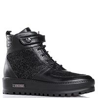 Черные ботинки Ilasio Renzoni на рельефной подошве, фото