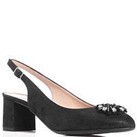 Туфли-слингбэки Donna Serena черного цвета, фото