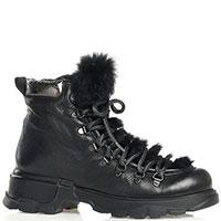Женские ботинки Fru.It с декоративной шнуровкой и мехом, фото