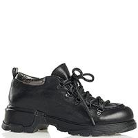 Низкие ботинки Fru.It черные на шнуровке, фото