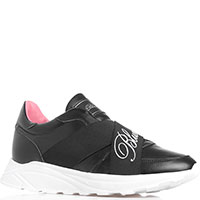 Черные кроссовки Blumarine без шнуровки, фото