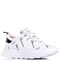 Белые кроссовки Blumarine с брендовым принтом, фото