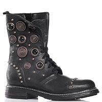 Черные ботинки Albano с декором-камнями, фото