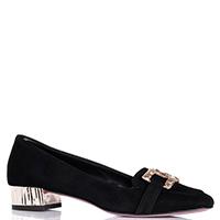 Туфли-лоферы Albano из замши черного цвета, фото